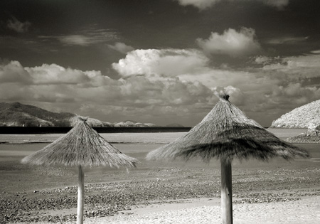 Thatched Umbrellas